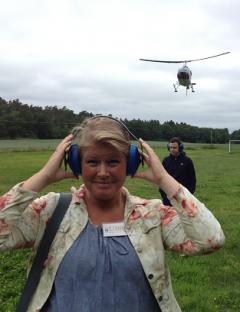 Som chefredaktör och reporter får man vara med om mycket. Förra sommaren blev det till exempel en helikoptertur över kommunen.