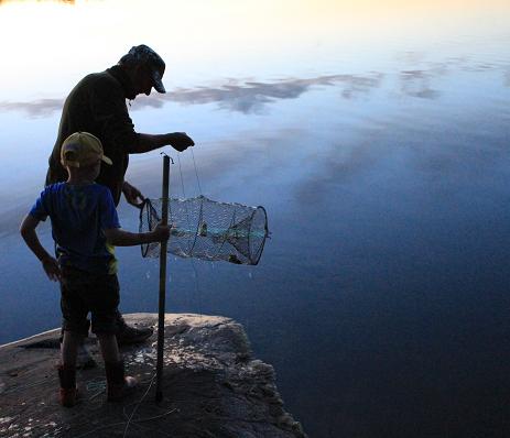 Kräftfiskepremiären vid Hällkana tipsade en läsare om.