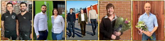 Här är förra årets vinnare i de fem kategorierna: Petjos, Guldjobbet, Magnusson PetFood, Sofie Hedberg samt Rasmus Vanagand.