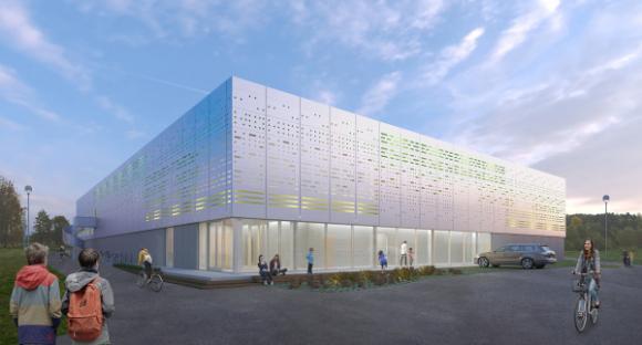 Så här kommer den nya sporthallen att se ut när den är färdig.<br />Bild: Tengbom