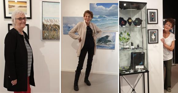 Konstnärstrion Catha Andersson, Mona Setzer och Marianne Keyzer ställer ut i Konsthallen i Kulturhuset.
