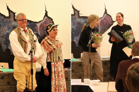 Staffan och Margit Jogmar till vänster. Till höger Anne Hansson och Lucia Kangur Röed.