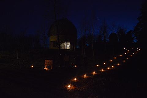 i kväll vän umgänge nära Uppsala
