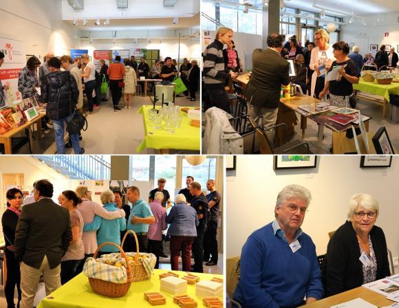Många besökte Alzheimerdagen i Kulturhuset. Där fanns ett digert smörgåsbord uppdukat av utställare, föreläsningar, filmvisning, en konstauktion och mycket mer.