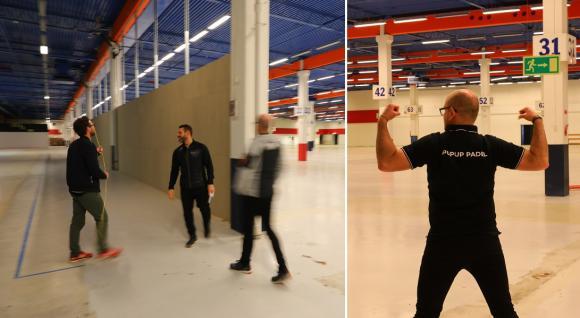 Tumstocken är aldrig långt borta när Alex, kvartettens byggexpert, är på plats. Här inspekterar de den vägg som \