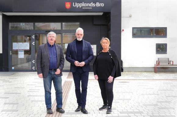 Martin Normark (L), Fredrik Kjos (M) samt Camilla Janson (S).