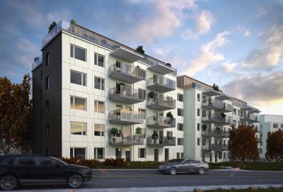 Miljöbild från projektet, Brf Parkstaden.<br />Bilderna tillhör Mäklarhuset i Kungsängen