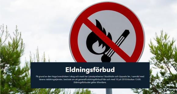 Bilden är en skärmdump och kommer från Stor-Stockholms Brandförsvars hemsida.