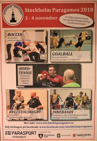 Årets upplaga av Paragames hade fem olika tävlingsplatser i StorStockholm, där innebandydelen spelades i kungsängen för tionde året i rad.