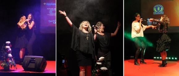 Kvällens Power-trio blev för ett tag en sextett när tre modiga galadeltagare anslöt sig till ett Pernilla Wahlgren - Kicki Danielsson - Carola-nummer. Högoktanigt!