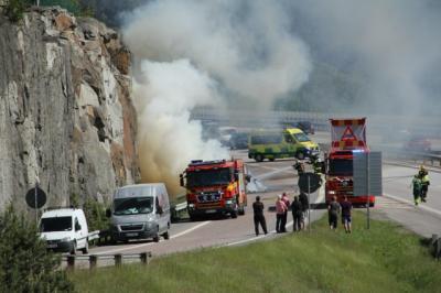 UBRO-redaktionen fick tips av flera läsare om husbilsbranden i Kungsängen.