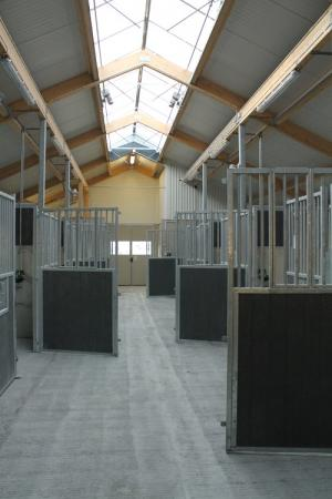 Ljus och rymd för hästarna i stallen. Det blir större, fräschare och mer funktionellt än vad man haft på Täby Galopp.