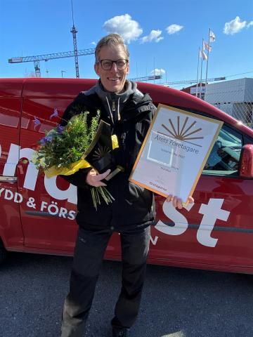 Låt mig presentera ÅRETS FÖRETAGARE i Upplands-Bro 2020: Henrik Wahlström, Brandfast AB.