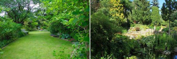 Välkommen hem till familjen Walderö. När man kliver in på framsidan där prydliga rabatter kantar den välansade gräsmattan kan man aldrig gissa vad trädgården har att erbjuda när man rundar husknuten.