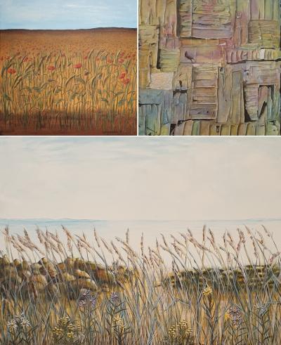 Catha Andersson målar varierade motiv i både akvarell och akryl.