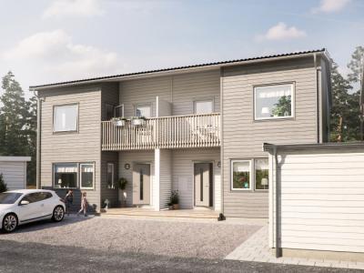 Hästhagen heter det nya BoKlok-område som växer fram i Jursta i Bro.
