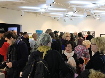 Det var många som ville ta del av invigningen av 2018 års Vårsalong.