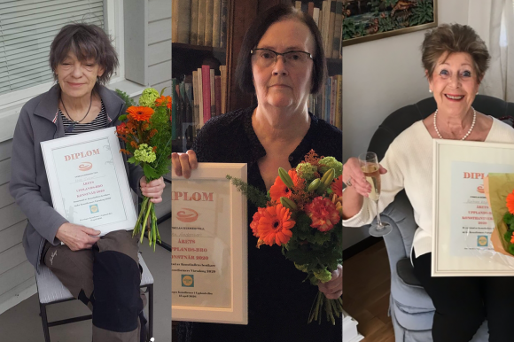 Vinnarna från vänster: Mona Setzer, Catha Andersson och Marianne Keyzer.