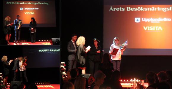 Mathias Forsberg och Camilla Janson delade ut pris till Årets Besöksnäring. Vann gjorde Happy Tammsvik.