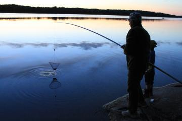 Arkivbild. Kräftfiskepremiären vid Lejondalssjön 2013.