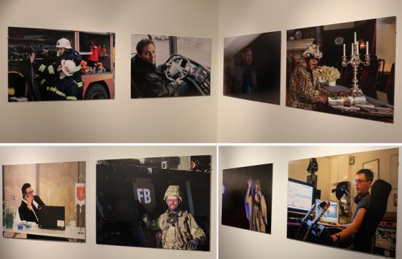 Några av fotografierna från utställningen <span style=\