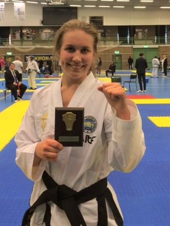 Py Pasanen är svensk mästare i Taekwon-do.