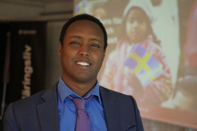 Ahmed Abdirahman, grundare av Järvaveckan, var inbjuden till Trygghetsseminariet för att dela med sig av sina erfarenheter av samverkan mellan näringsliv och lokalsamhälle.