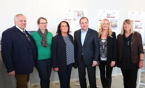 Jan Stefansson, Lisa Edwards, Camilla Janson, Stefan Löfvén, Nina Rönnberg och Anna Norberg.