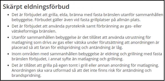 Skärmdump från Länsstyrelsens hemsida.