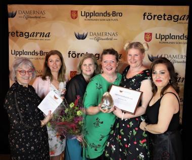 Årets Inspiratörer blev lyckopillren Systerskap i Bro. Priset delades ut av Irène Seth och Azar Tavallali från Damernas affärsnätverks styrelse, samt avAnnette Hjälmström,representant för galasponsorn Nordic Heater.