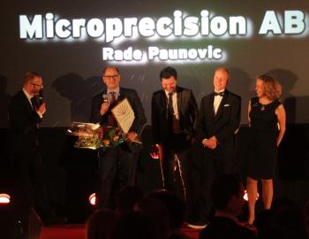 Rade Paunovic blev utsågs till Årets Företagare vid Upplands-Brogalan 2015.