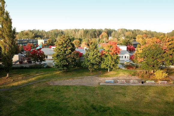 I parkområdet intill Råby förskola ska den nya gemensamhetsodlingen anläggas.