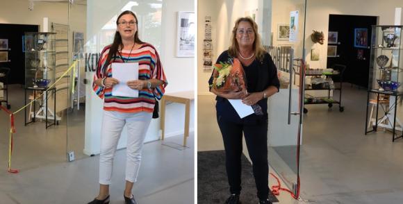 Helena N Åkerlund är konstnär och medlem i föreningen Konstformer. Tillsammans med Camilla Janson, kommunstyrelsens ordförande, invigde hon årets samlingsutställning inför Konstrundan som traditionsenligt går av stapeln första helgen i september.