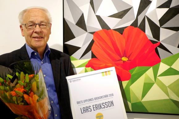 Lars Eriksson heter årets Upplands-Brokonstnär. I höst kommer han att visa upp sin konst i den separatutställning han belönas med för att Vårsalongens besökare röstade fram honom som sin favorit.