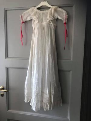 Dopklänningen som syddes 1901 försvann 1992.