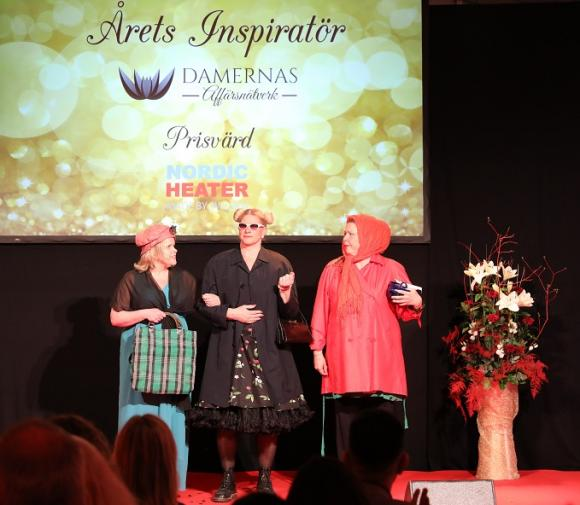 Sari Lindstedt, Malin Nordin och Sussanne Persson bytte raskt om till \