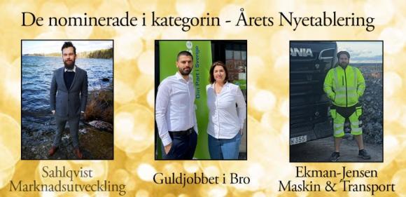Martin Sahlqvist, Moslim Ali Akill och Homa Khosrawi, samt Dennis Jensen är tre nyetableringar som imponerat lite extra på Företagarna i Upplands-Bro.