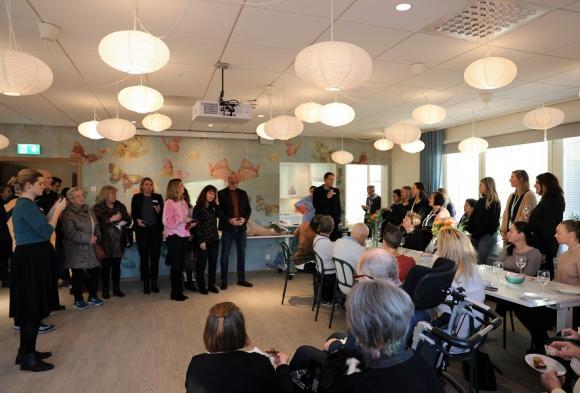 <span>Humana Omsorgs affärsområdeschef Anders Broberg</span>, var på plats och invigningstalade.