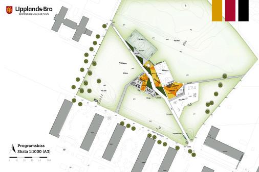 <h4>Skissen över parken grundar sig på önskemål från kommunens invånare och föreningsliv. (Illustration: Norconsult AB)</h4>