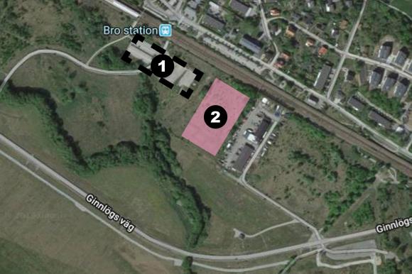 Figur 1: Dagens tillfälliga parkeringsplats. Figur 2: Kommande tillfälliga parkeringsplats.