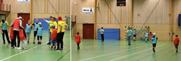 Första aktiviteten på UBSC 2017 blev futsal i Bro Sporthall. Tre lag i mycket varierade åldrar möttes i treminutersmatcher.