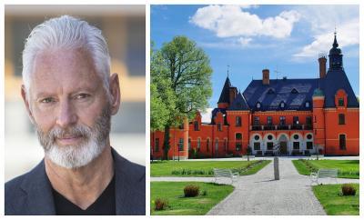 Fredrik Kjos, kommunstyrelsens ordförande.<br />Lejondals slott.