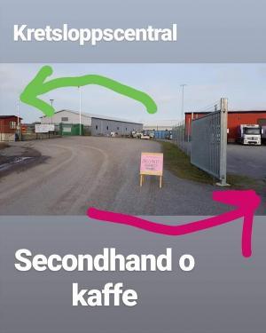 Skällstavägen är adressen, och granne med Kretsloppscentralen. Klockren placering för en Secondhand!