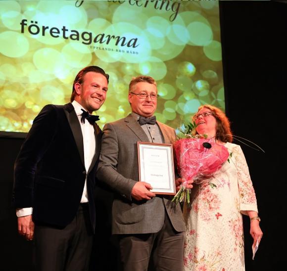 Företagarna delade ut två priser under Galakvällen. Först ut var Årets Nyetablering som gick till Thomas Karlsson som öppnat en Mekonomen i Bro.