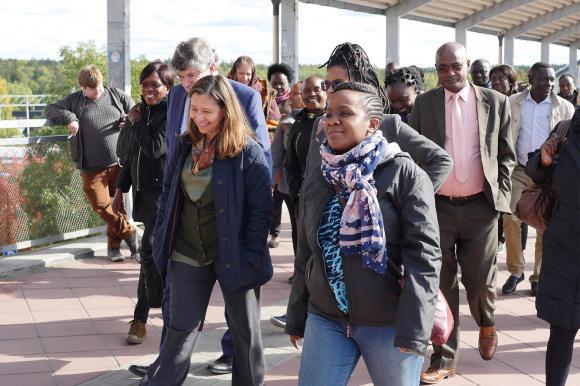 Upplands-Bro fick besök av statstjänstemän från Etiopien, Kenya, Tanzania, Uganda och Zambia.