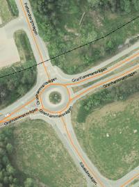 Översiktsbilden över Norrbodarondellen är en skärmdump från Kommunens hemsida.