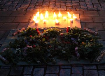 Arkivbild. Bilden är från en av Kvinnojouren Annas manifestationer mot våld.
