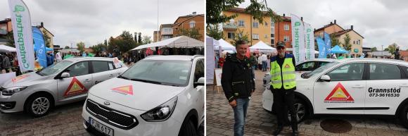 Under en period kommer vi att ha två Grannstödsbilar i Upplands-Bro. Björn Svensson är Trygghetssamordnare i Upplands-Bro kommun och Claes Åkerström är en av kommunens grannstödsförare. Grannstödsförarna är volontärer som stöttar kommunen och polisen i trygghetsarbetet.