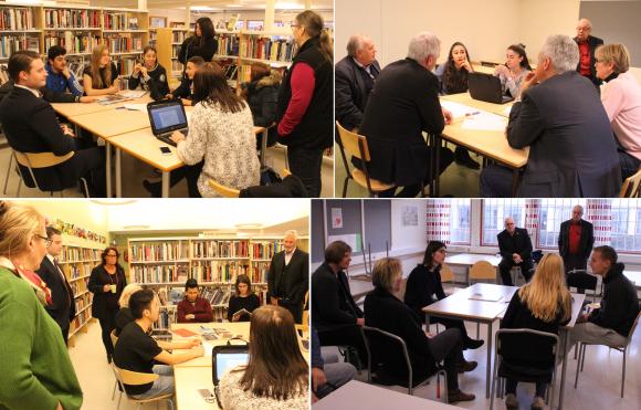 SL, och möjligheten att påverka tidtabeller var ett ämne som diskuterades friskt i biblioteket. Lärare, pedagogik, extrahjälp och inlärning diskuterades i ett annat rum. Skolmaten och möjligheten att få hit några bra snabbmatskedjor var andra heta snackisar.