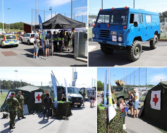 FRG och Livgardet fanns på plats för att berätta om sina verksamheter.